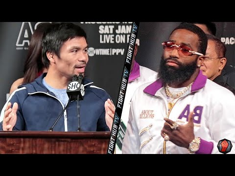 """PACQUIAO TELLS BRONER """"IF YOU WANT TO BE FRIENDS, WE CAN BE FRIENDS"""""""