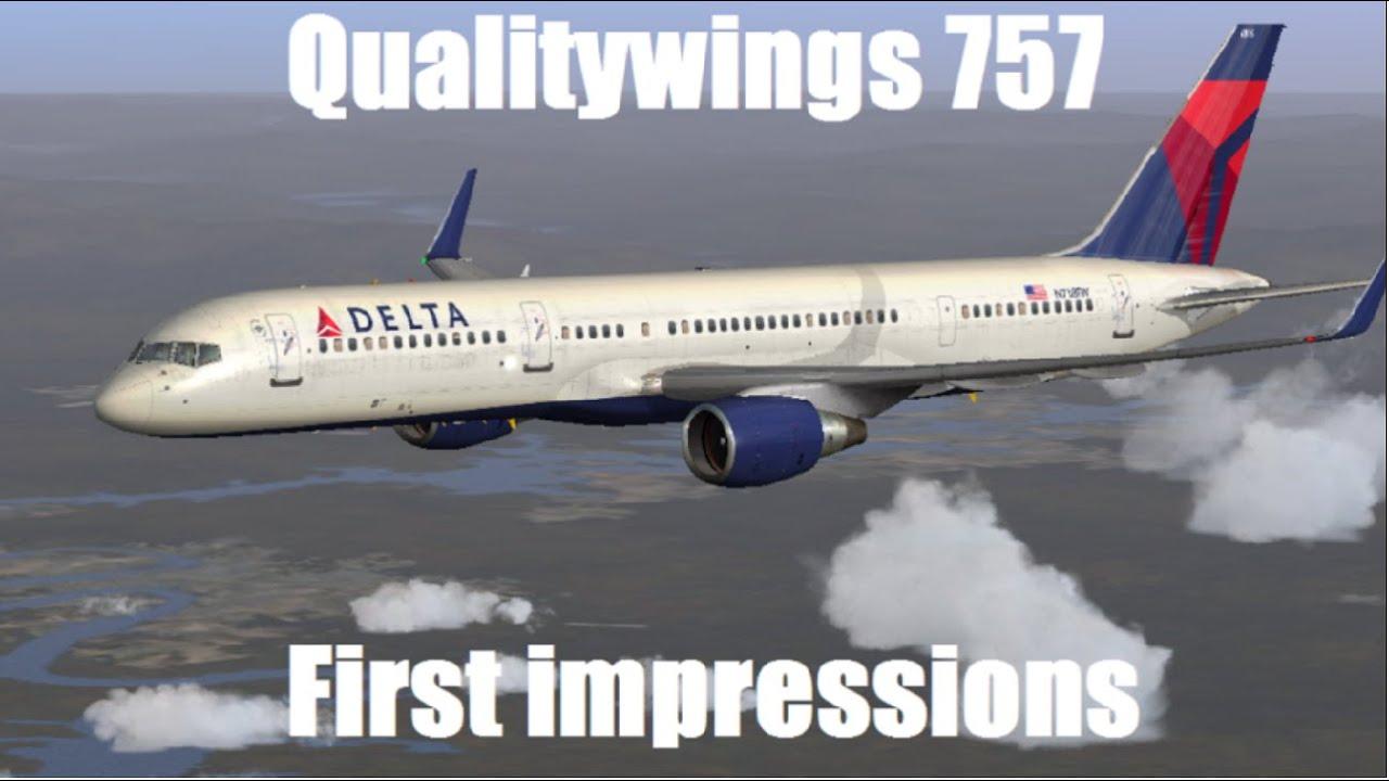 FSX 757 Landing Miami | Quality Wings 757 | HD - 1080p