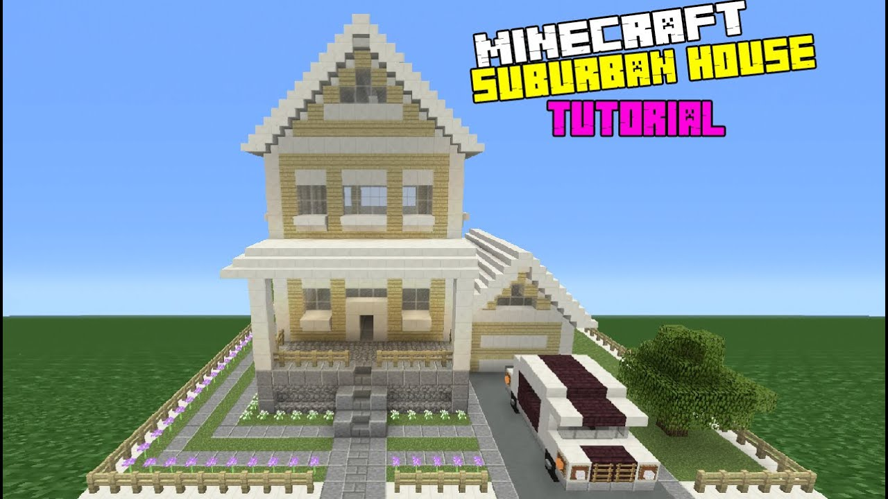 Minecraft tutorial how to make a suburban house 7 youtube for Housse storio max 7