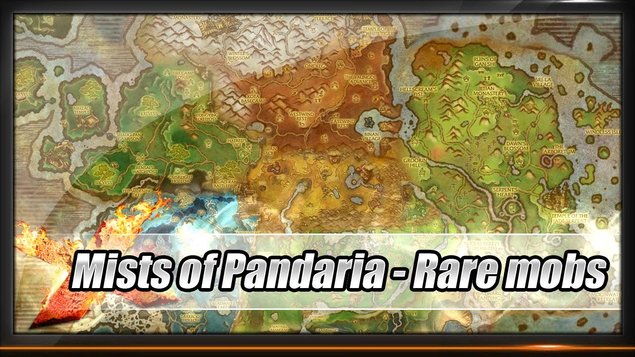 Guide Mists Of Pandaria All Rare Mobs Locations Youtube