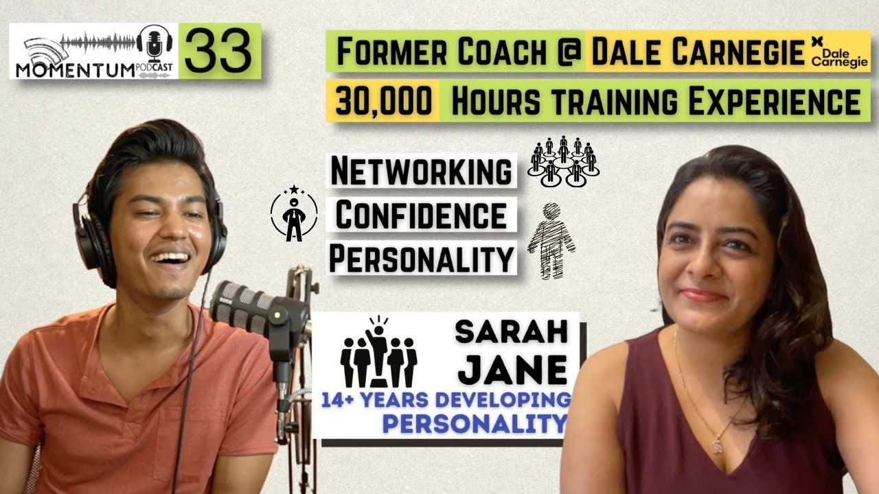 Communication & Networking Skills   Enhance your CONFIDENCE   With Sarah Jane   Momentum Ep. 33
