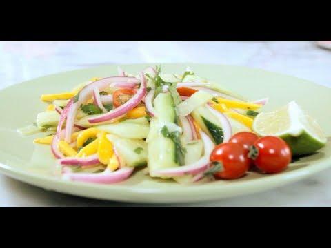 Mango Slaw Recipe Delicious Summer Mango Slaw with Cucumber & Onion