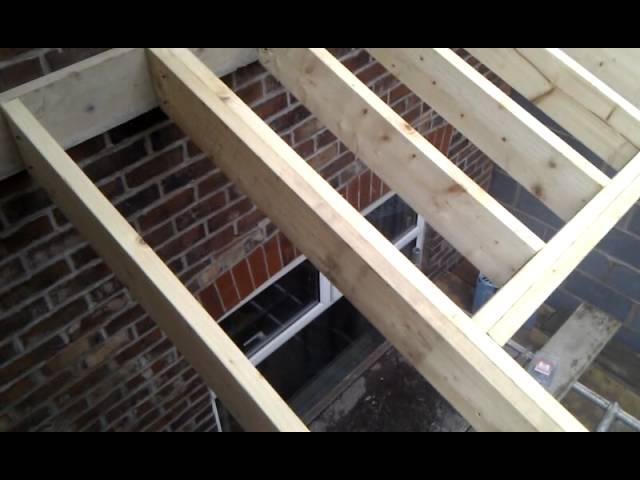 Timber Roof On A Single Storey Extension Youtube
