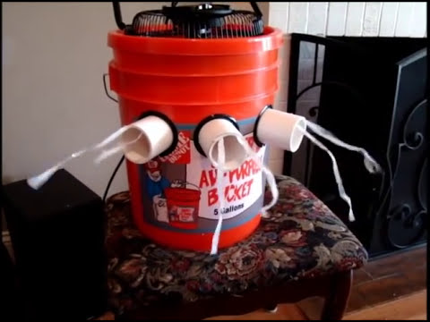 How To Make A 5 Gallon Bucket Air Conditioner Without Glue