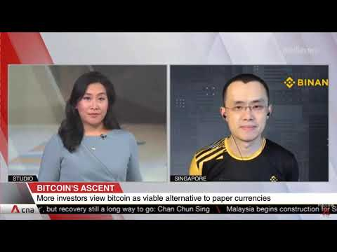 CZ, CEO of Binance Talks about what is driving Bitcoin & other cryptocurrencies (Credits: @CNA)