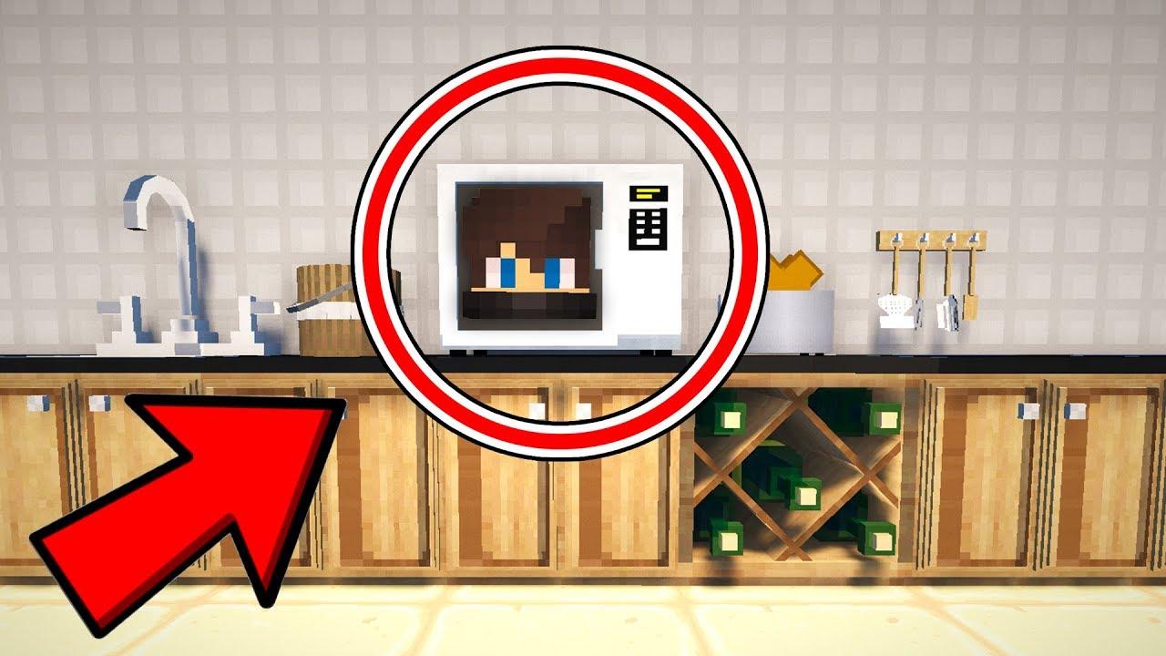 je me cache dans un micro-onde !   cache cache minecraft ! - youtube