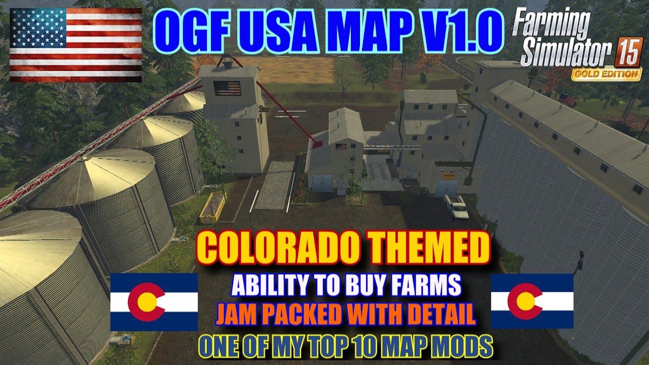 Farming Simulator 2015 Mod Review OGF USA Map V10 Map Mod