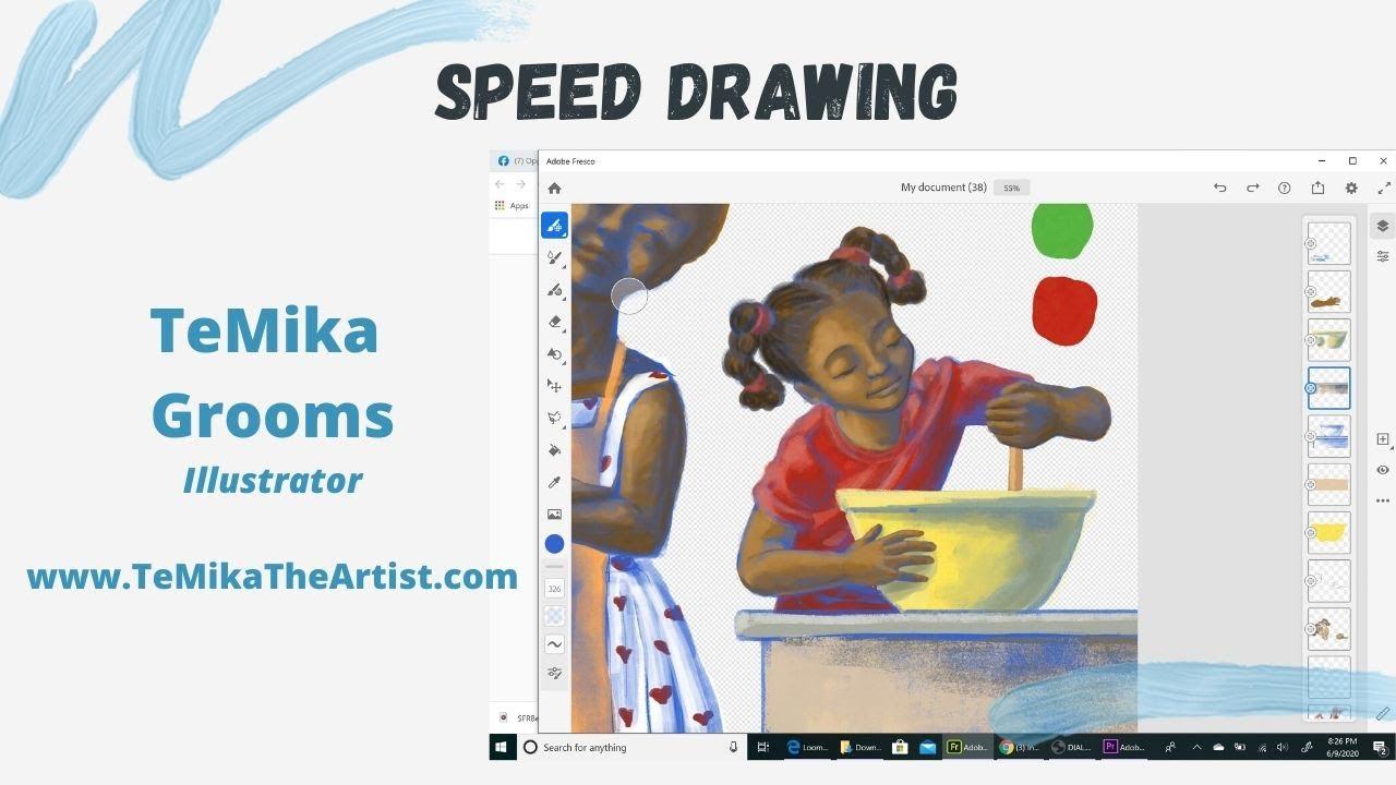 """""""Fresco & Chill"""" Speed Drawing with TeMika Grooms"""