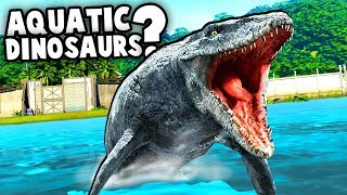 Jurassic World Evolution WATER DINOS!  Should they Add Aquatic Dinosaurs? (Jurassic World Evolution)