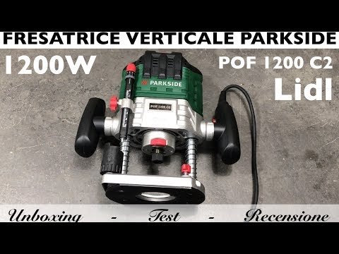 Review parkside vertical milling machine, lidl. POF 1200 C2. Wood. unboxing, assembly and testing