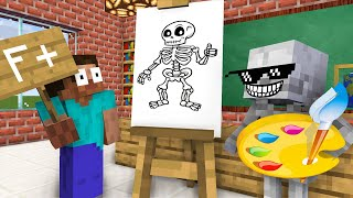 Monster School : Baby Monsters Drawing Challenge New Episode - Minecraft Animation