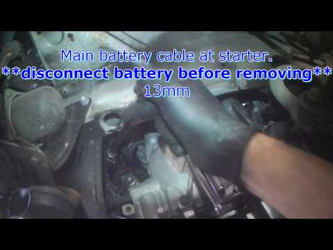 VW A4: New Beetle 5cyl Starter removal (automatic)