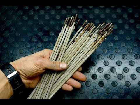 Смотреть НЕ ВЫБРАСЫВАЙТЕ ЭЛЕКТРОДЫ \ we drill concrete with self-tapping screws онлайн