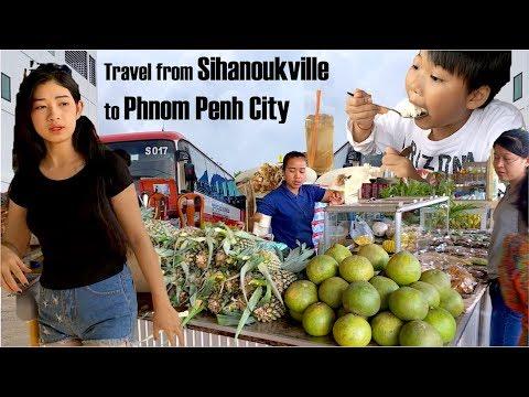 Travel with Phnom Penh Sorya Bus from Sihanoukville to Phnom Penh city