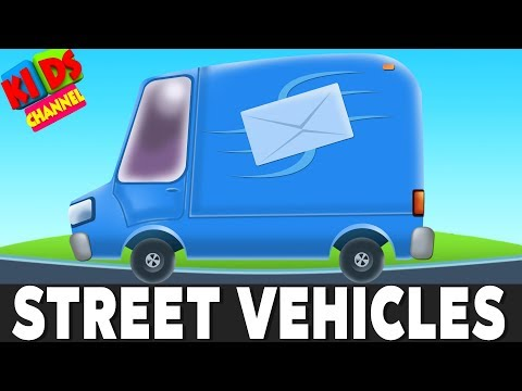 Around the world with street vehicles | cartoon cars  and trucks for children by kids channel