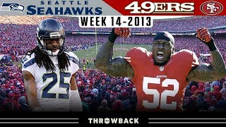 Check out the 2013 week 14 game highlights between seattle seahawks and san francisco 49ers!#classicgamehighlights #seahawks #49ersthe nfl throwback is y...