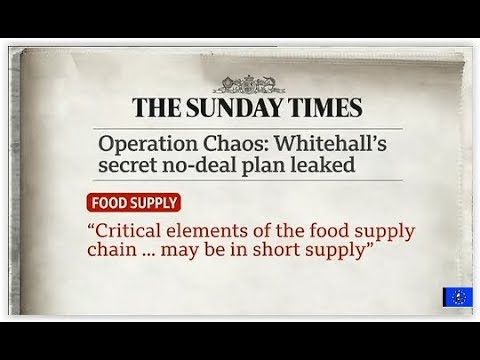 Brexit Chaos: Johnson angered by leaked no deal catastrophe papers