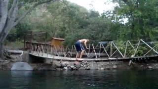 La maroma de Josué en el Ojo de Agua de Zacualpan