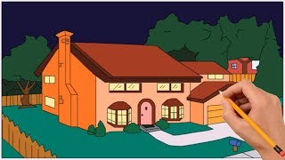 How to Draw The Simpsons House Step by Step
