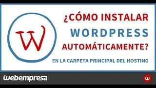 Instalar WordPress automáticamente en public_html