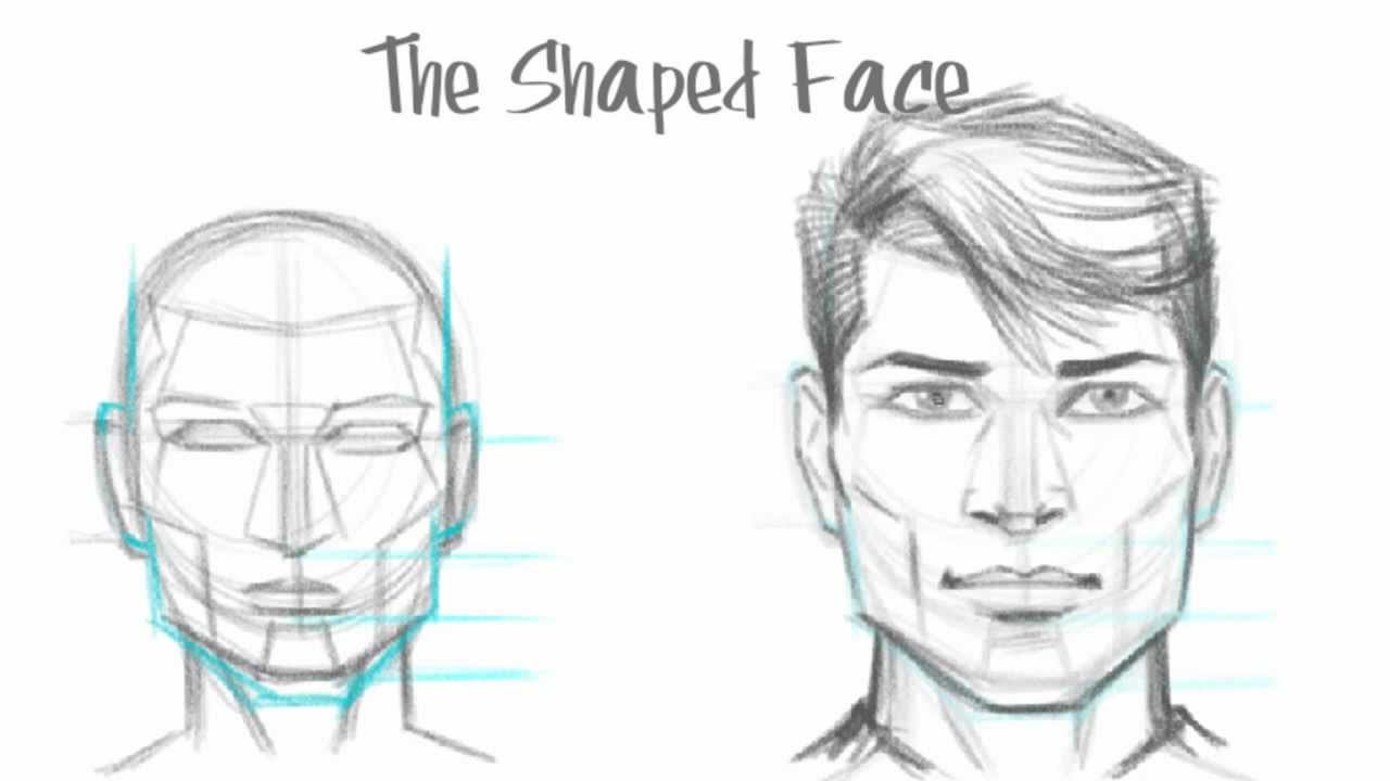How to Draw the Male Face - Basic Drawing Tutorial (The ...