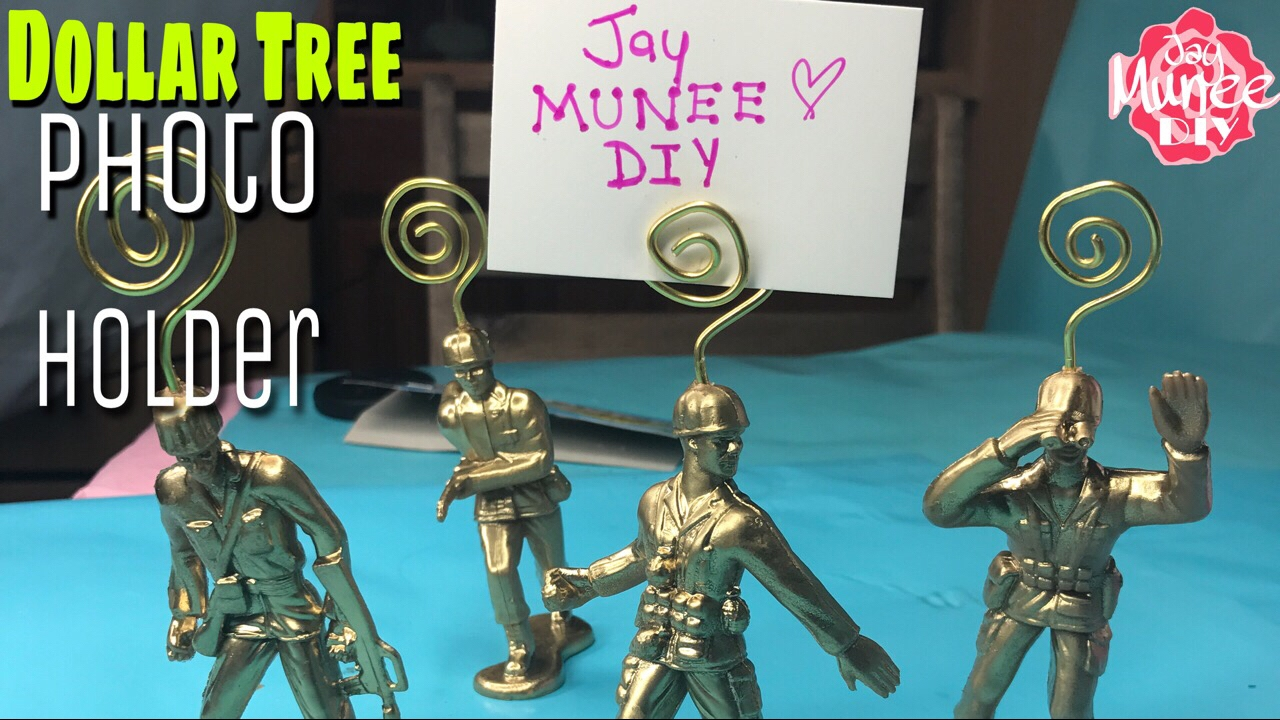 Dollar Tree DIY WIRE PICTURE HOLDER - YouTube