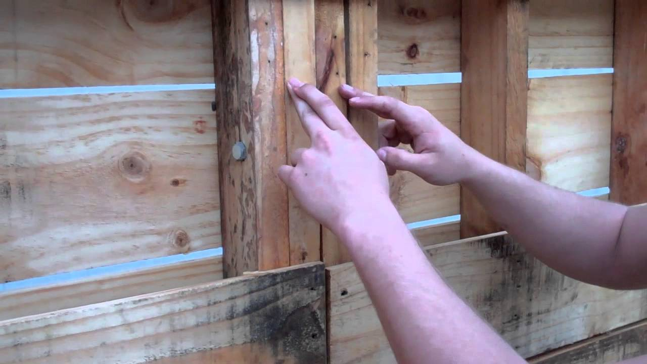 Pallet Shed Walls Part 1 Youtube