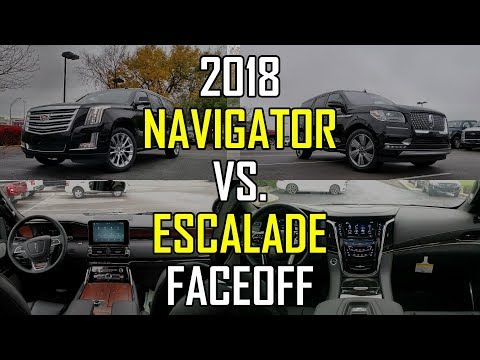 2018 Lincoln Navigator vs. 2018 Cadillac Escalade: Faceoff Comparison