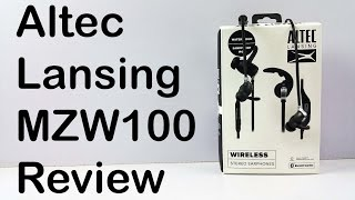 Altec Lansing MZW100 Bluetooth Earphones Review - Nothing Wired