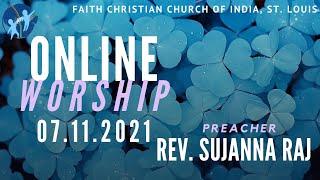 FCCIndia Online Worship 07/11/2021 | FCCI St. Louis