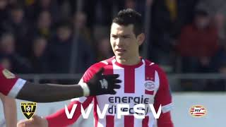 Chucky Lozano anota y salva al PSV vs Venlo (HD) 17/03/19