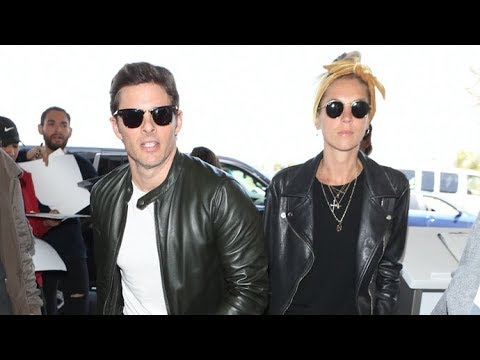 James Marsden And Girlfriend, British Singer Edei Are One Cute Couple At LAX!