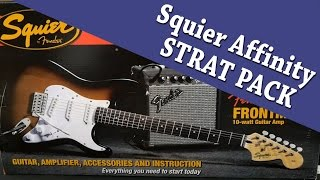 Squier Affinity Strat Pack unboxing with Cranbourne Music