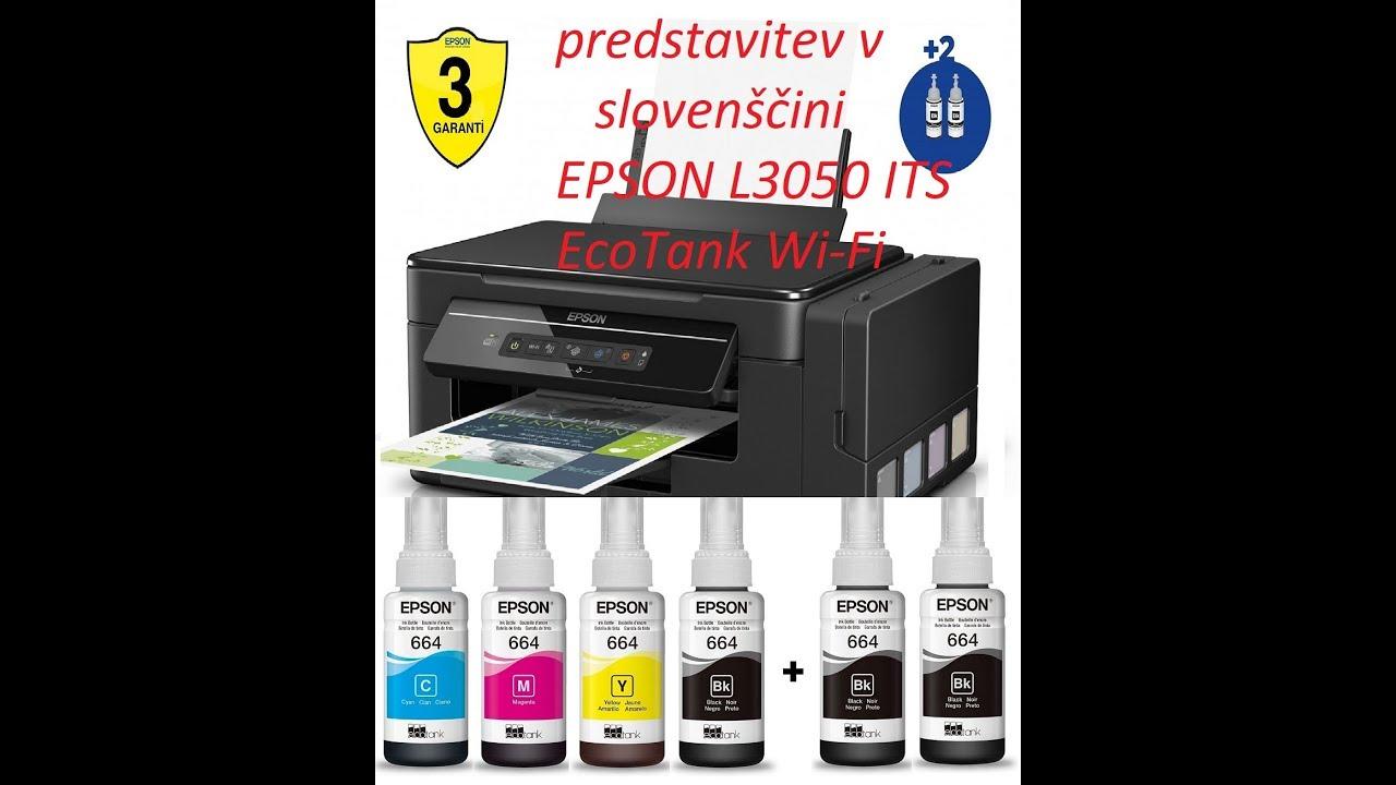 predstavitev: Epson L3050 ITS ecotank wi-fi ink printer: slovenščina