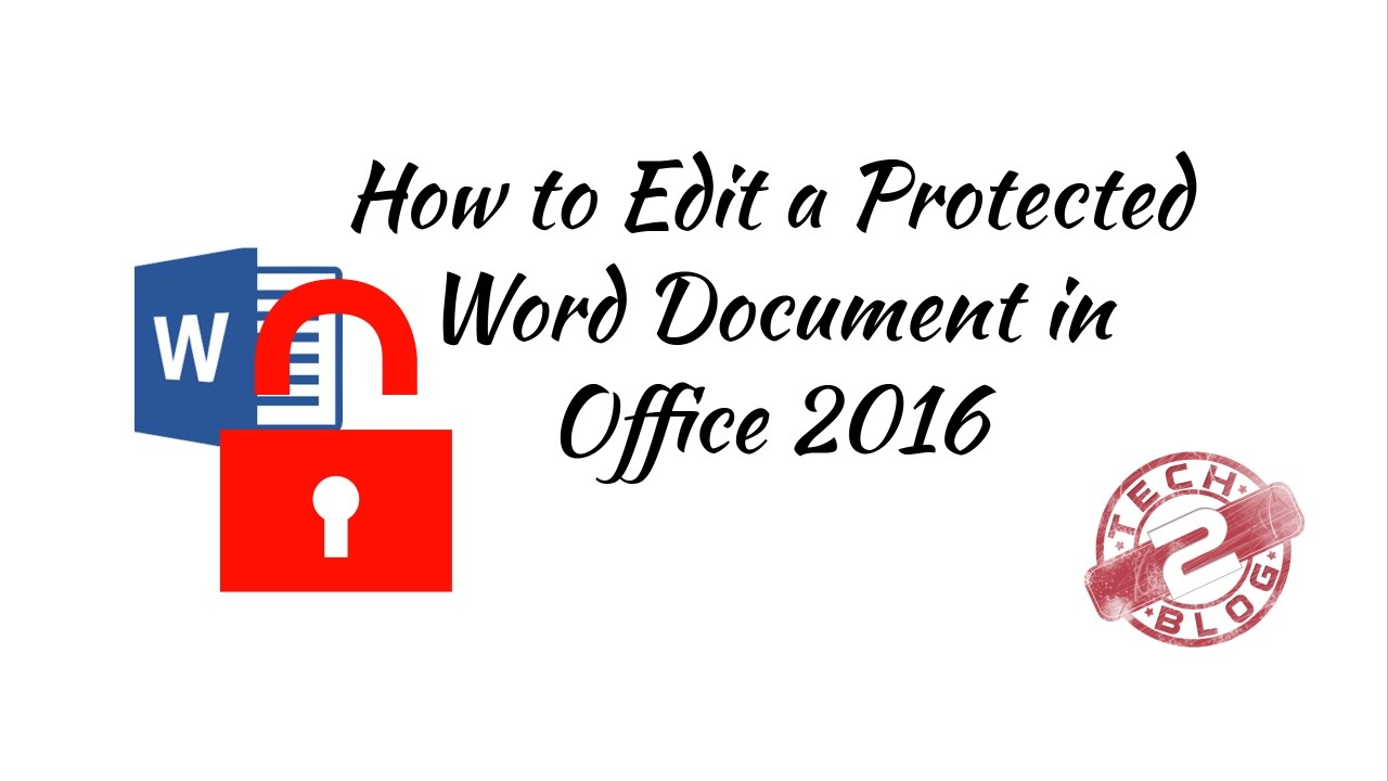 word document write protected