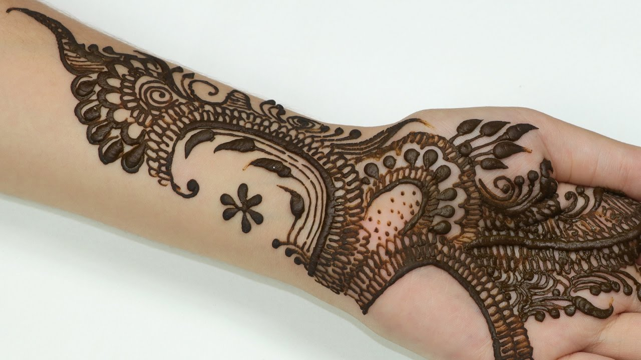 Modern Mehndi Patterns : Modern mehndi designs for hands beautiful and unique