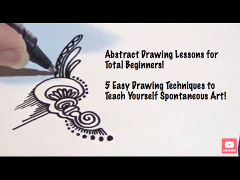 Abstract Drawing Lessons for Beginners: 5 Different Techniques to Explore, Step by Step Tutorial