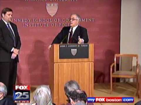 Harvard student takes on Rep. Barney Frank on Economy