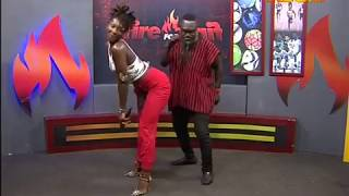 Ebony dances with Countryman Songo - Fire 4 Fire on Adom TV (20-11-17)
