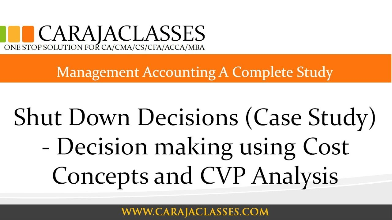 management accounting project report cvp analysis for Chapter 23: reporting to support managerial decisions chapter 24: analytics for managerial decision making cvp for multiple products of course, the validity of this analysis depends upon actual sales occurring in the predicted ratio changes in product mix will result in changes in.