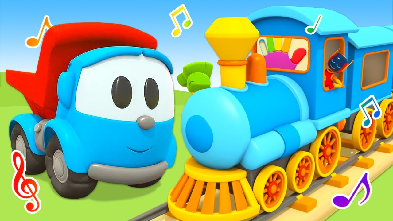 Car cartoons for kids & NEW songs for kids - Leo the Truck cartoon for babies.