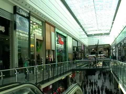 Inside Arndale Shopping centre in Manchester, England