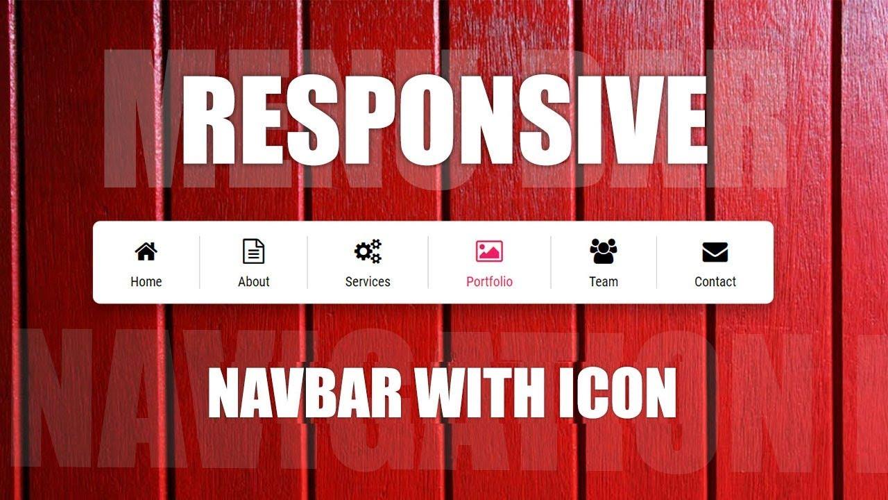 Navbar Design: How To Create Animated NavBar With Icon Slide On Hover