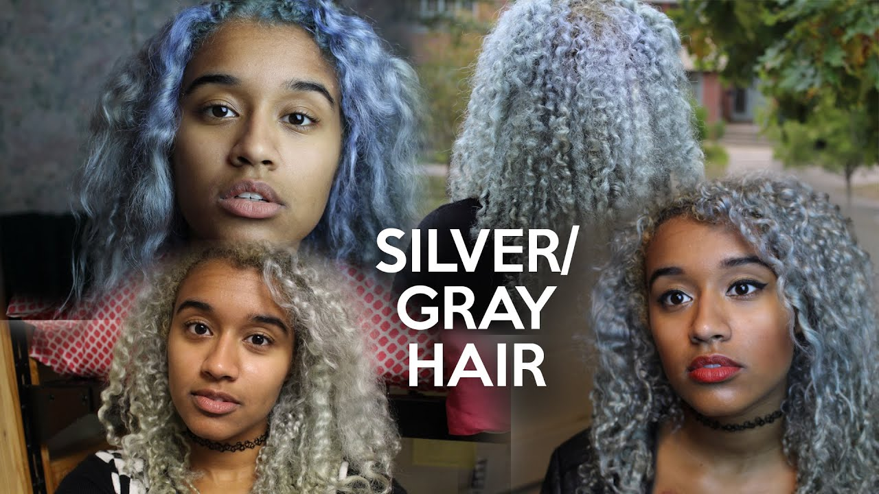 How To Dye Your Hair Silver Gray Offbeatlook Youtube