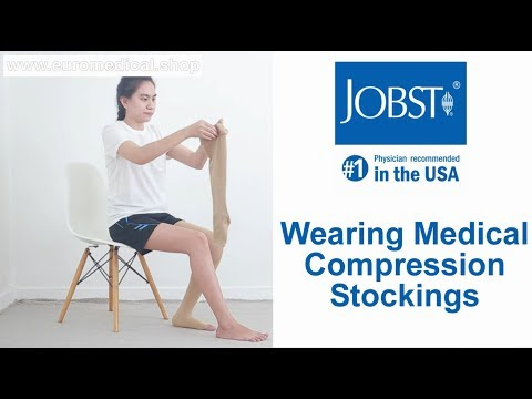 Wearing JOBST Medical Compression Stockings