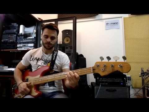 Fender Precision Classic 50 + Seymour Duncan SPB-1 pickup (Funky P-bass Audio TEST)