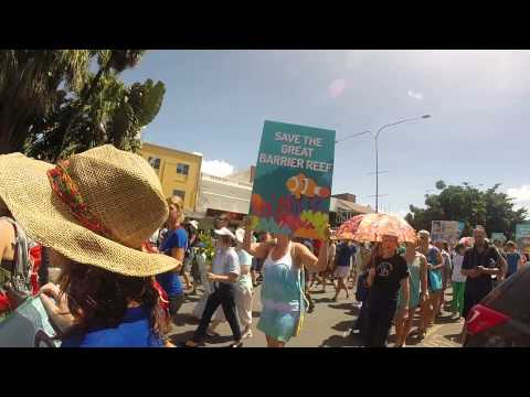 Cairns Reef Rally - Save the Great Barrier Reef from Dredging! GoPro HD 1080p