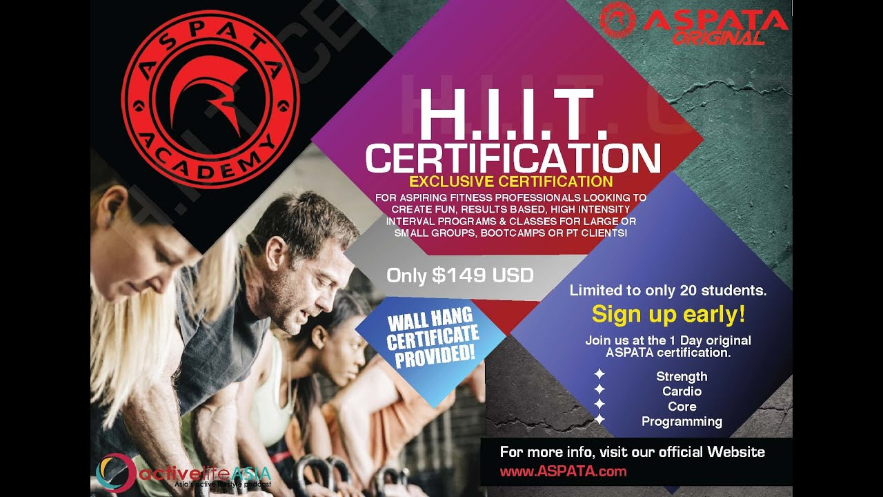Aspata Hiit Instructor Certification Youtube