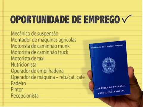 (JC 23/11/17) Vagas Setor de Empregos PMV