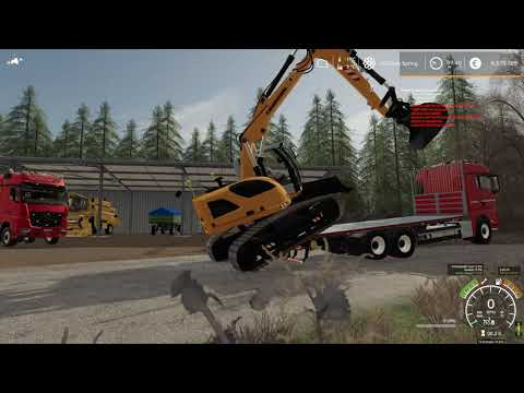 FS-19 How To Drive Off A excavator From Truck